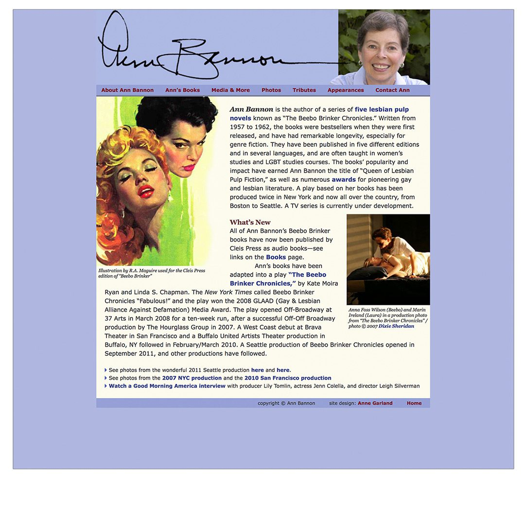 website / author ann bannon