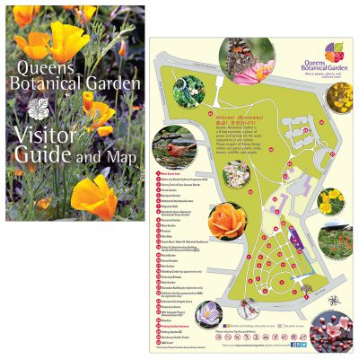 map & visitor guide / queens botanical garden
