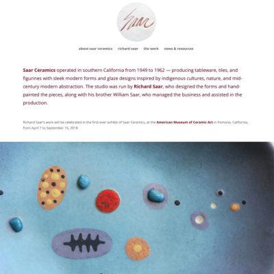 saar ceramics website