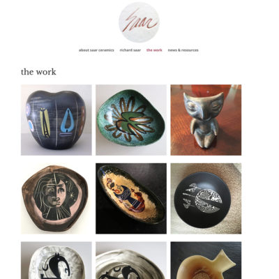 website / saar ceramics