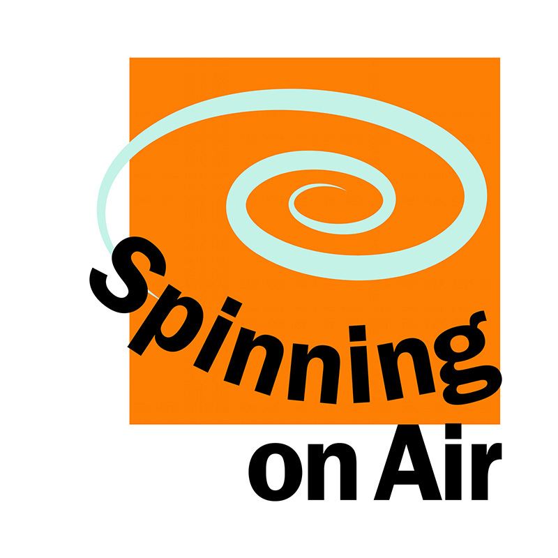 logo / spinning on air podcast